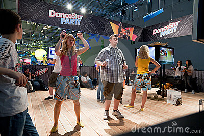 Videogamers and PlayStation Move Editorial Photo