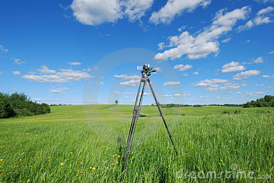 Videography of summer landscape
