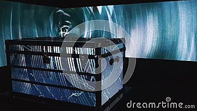 Videopresentatie van de Evolutie en de Geschiedenis van Louis Vuitton Branding stock footage