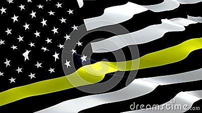 911 Videospiel unter der Responder-Flagge im Wind Realistischer medizinischer Notfall-Ansprechpartner Flag-Hintergrund 911 Antwor vektor abbildung