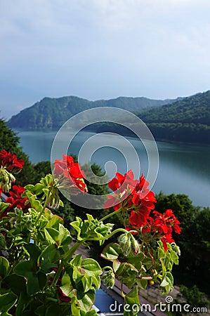 The Vidraru lake in Fagaras mountains of Romania