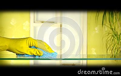 Vidrio de la limpieza