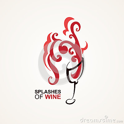 Vidrio de vino con el chapoteo grande
