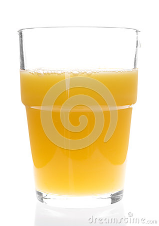 Vidrio de zumo de naranja