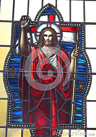 Vidrio manchado Jesús