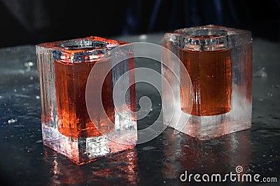 Vidrios del hielo