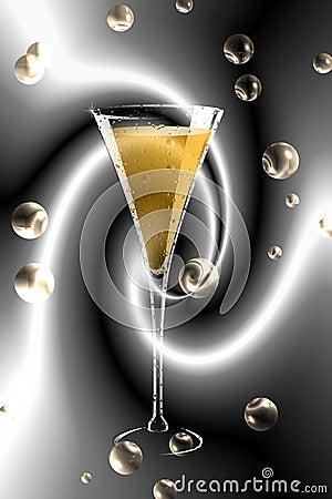 Vidro de Champagne.