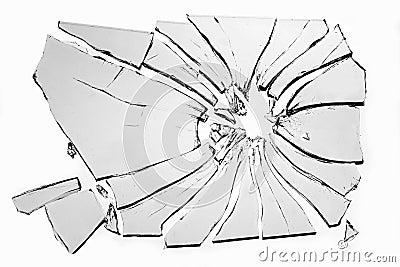 Vidro quebrado foto de stock imagem 43893534 - Specchio rotto sfortuna ...