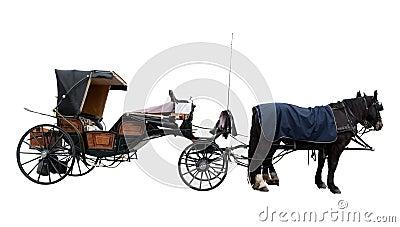 Vieil autocar de cheval