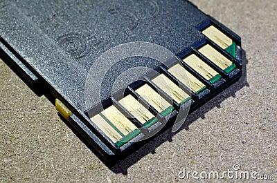Vieille carte de mémoire d écart-type