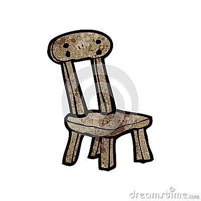vieille chaise en bois de bande dessin e image stock image 38058041. Black Bedroom Furniture Sets. Home Design Ideas