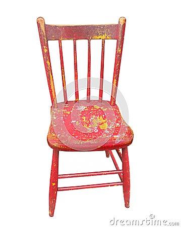 vieille chaise rouge en bois d 39 isolement photos stock image 34425213. Black Bedroom Furniture Sets. Home Design Ideas