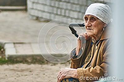Vieille femme du russe