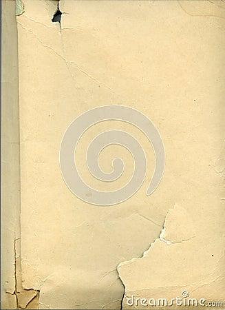 Vieille feuille de papier