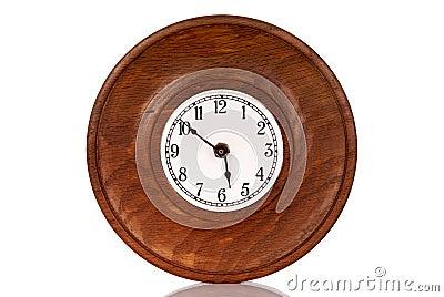 vieille horloge en bois photographie stock libre de droits image 31085467. Black Bedroom Furniture Sets. Home Design Ideas