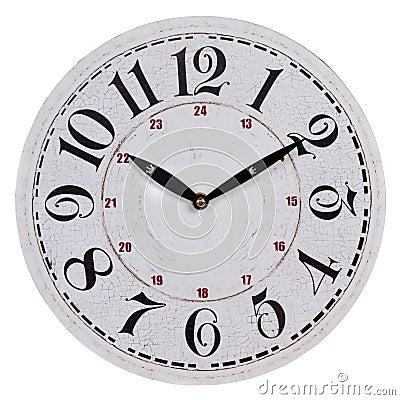 Vieille horloge murale blanche ronde photos stock image 33277913 - Horloge murale blanche ...
