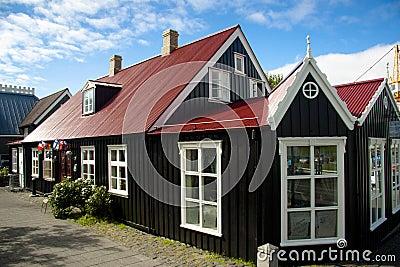 Vieille maison nordique de beauté à reykjavik - en islande
