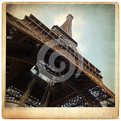 vieille photo de carton avec tour eiffel photos stock image 28281353. Black Bedroom Furniture Sets. Home Design Ideas