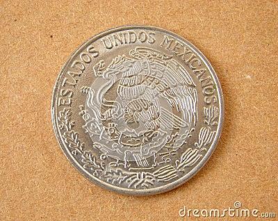 Vieille pièce de monnaie du Mexique