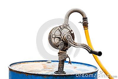 vieille pompe d 39 essence manuelle photo stock image 44584492. Black Bedroom Furniture Sets. Home Design Ideas