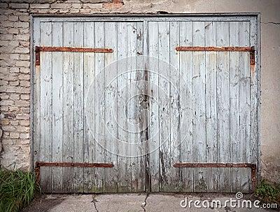 Vieille porte n glig e en bois de garage photo stock image 47742620 - Vieille porte en bois ...