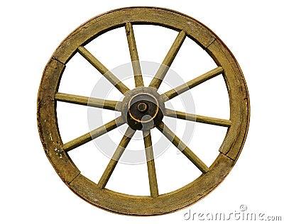 vieille roue en bois photo stock image 7438700. Black Bedroom Furniture Sets. Home Design Ideas