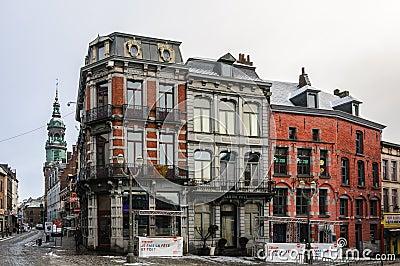 vieille ville mons belgique le capital de la culture photo ditorial image 60494161. Black Bedroom Furniture Sets. Home Design Ideas