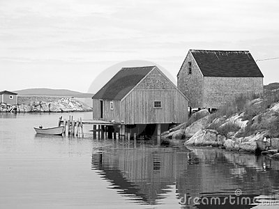 Vieilles cabanes de poissons