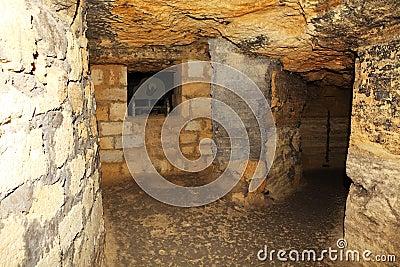 Vieilles catacombes Odessa, Ukraine (siècle de XVIII-XX)