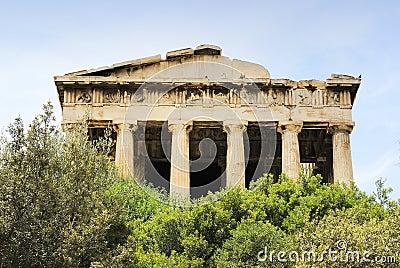 Viejo ágora en Atenas