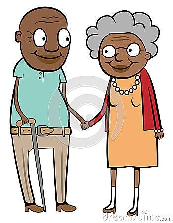 Viejos pares negros felices