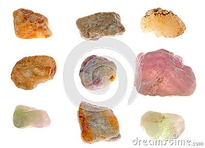 Viele Mineralien