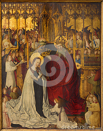 Vienna -  Coronation of holy Mary from year 1350