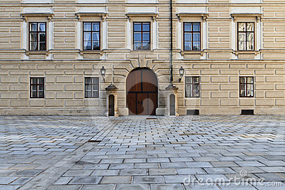 Vienna Hofburg Palace, Entrance Door Inner Square