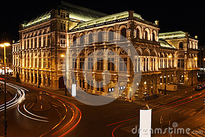Vienna Opera house in Vienna, Austria