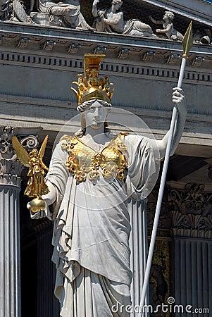 Free Vienna - Pallas Athene Statue Royalty Free Stock Image - 2626916