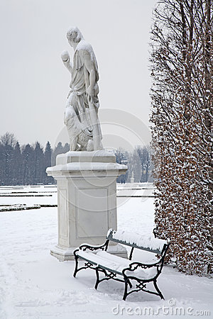Vienna - Schonbrunn palace and statues of mythology
