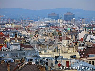 Vienna skyline and Vienna General Hospital