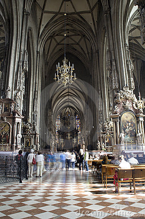 Vienna - st.Stephens cathedral - interior