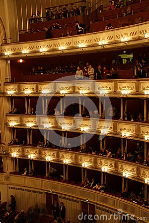 Vienna State Opera - interior Editorial Stock Image
