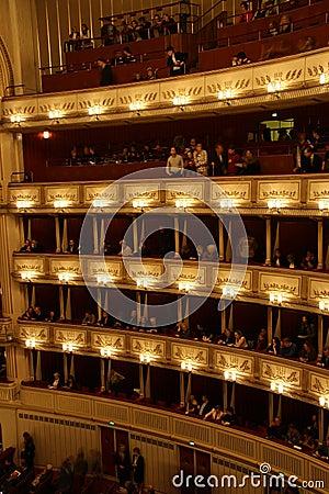 Vienna State Opera - interior Editorial Stock Image