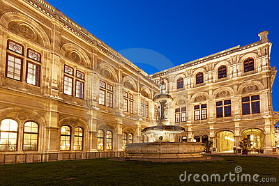 Vienna State Opera at night