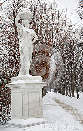 Vienna -  Statue from mythology in gardens of Schonbrunn palace