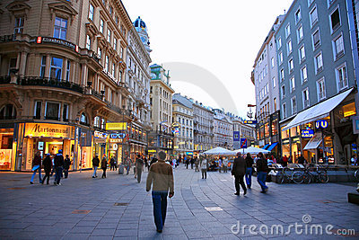Vienna Street,Austria Editorial Image