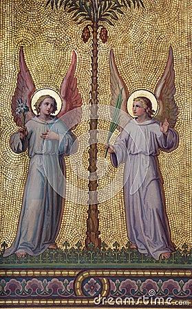 Vienna - Symbolic angels fresco