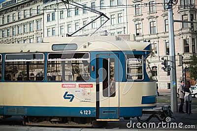 Vienna Tram Editorial Photo