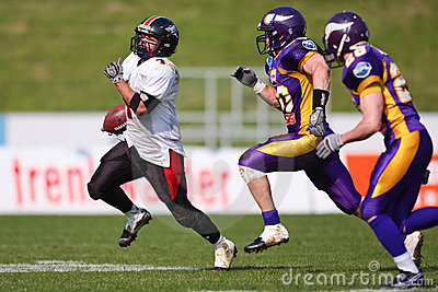 Vienna Vikings vs. Carinthian Black Lions Editorial Photography