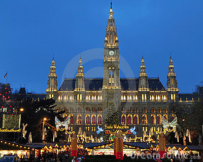 Viennas Christmas market Editorial Photo