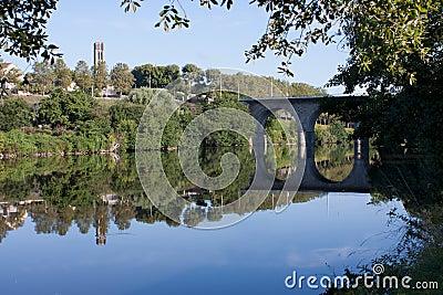 Vienne river in Limoges, France