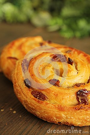 Viennese pastry with raisins